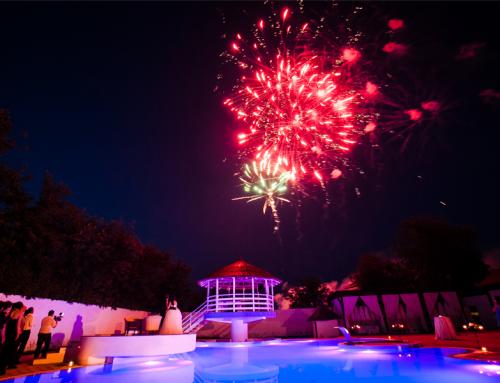 3) Vrei sa imparti piscina si spatiul verde cu alte nunti?